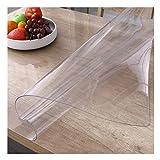 Mantel Transparente Mantel De PVC Protector Suelo A Prueba De Agua Y Aceite Sin Lavado Plástico De Vidrio Blando Usado para Comedor Gabinete De TV Oficina (Color : 2mm, Size : 85X150cm)