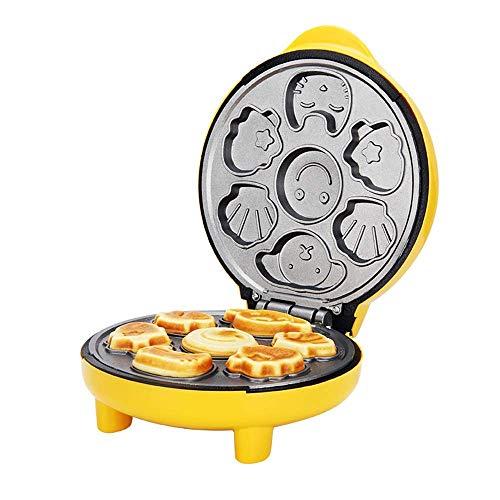 Anti-Überlauf Waffeleisen mit Nonstick Platten und Cool-Touch-Griff macht 7 verschieden geformten Pfannkuchen mit kostenloser Temperaturregelung for Frühstück, Mittagessen oder Snacks fangkai77