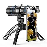 Apexel Zoomobjektiv HD 20-40X mit Stativ, Teleobjektiv, für Handy, für iPhone,...