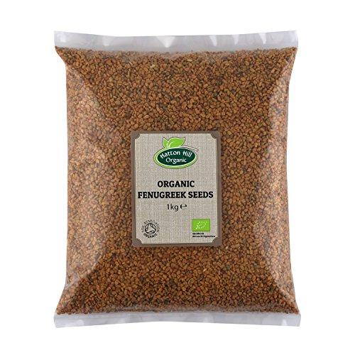 BIO Bockshornklee Samen 1kg Bockshornkleesamen, Keim-Saat, ganze Bockshorn Fenugreek Seeds von Hatton Hill Organic - BIO zertifiziert…