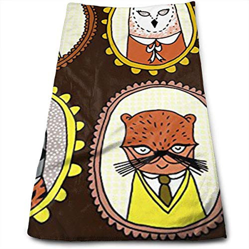 LoveBiuBiu Fox Sloth Raccoon Bear Otter Multi-Purpose Microfiber Towel Ultra Compact Super Absorbent and Fast Drying Sports Towel Travel Towel Beach Towel Perfect for Camping, Gym, Swimming.