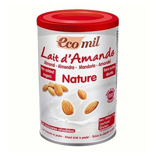 EcoMil almendra Orgánica leche en polvo sin azúcar añadido 400g