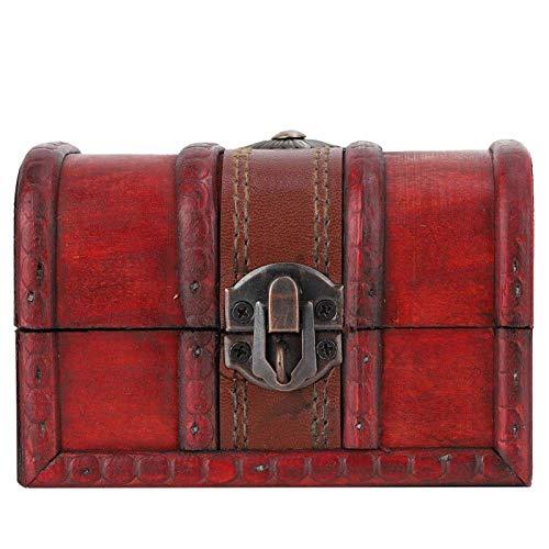 【Venta del día de la madre】Joyero, caja de madera decorativa de madera...