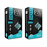 Skore Zig Zag Condoms - Dotted And Ribbed Condoms - 2 Packs