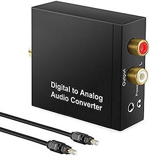 Usee DAC デジタル(光&同軸)アナログ RCA(L/R)オーディオ変換器 DAコンバーター 音声変換 金メッキ端子 PS3 XBOX HDTVなどに対応 光 ケーブル&USBケーブル付属