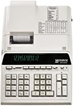 $239 » (1) Monroe 12-Digit Print/Display Genuine Monroe UltimateX, Our Top-of-The-Line Heavy-Duty Calculator in Ivory