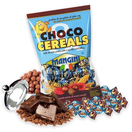CHOCO & CEREALS MANGINI kg 1 Piccoli cioccolatini al latte ideali per il caffè. Praline ricoperte di cioccolato al latte con un cuore di croccanti cereali | Confezione da Kg 1 (circa 480 praline)