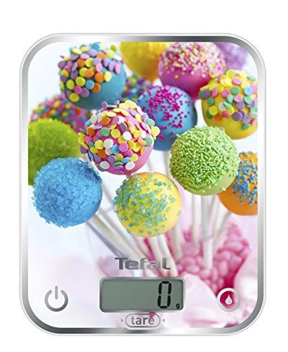 Tefal Optiss Cake Pops – Balance de cuisine, capacité 5 kg, 2 piles AAA
