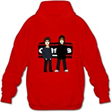 DASY Men's O-neck Oasis Band Hoody X-Large Red