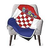 クロアチアの旗 ベビーブランケット30 x40インチ赤ちゃん毛布を昼寝耐寒性のベビーキルトベビーコンフォートブランケットベビーダブルブランケット