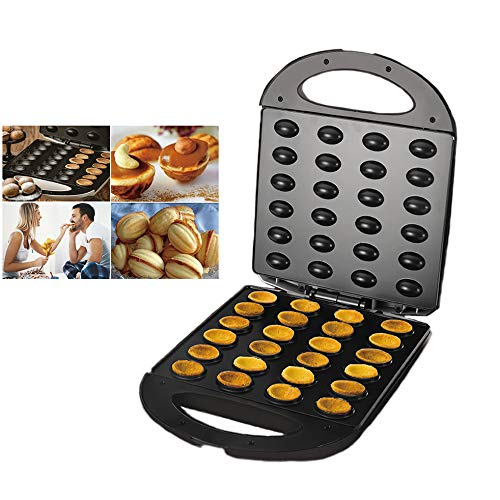 Máquina para hornear nueces de 1400 W, máquina para hornear maní, avellanas y piñones, máquina para hacer frutos secos caseros, placas antiadherentes, luces indicadoras LED