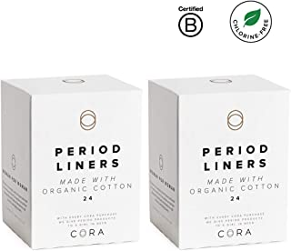 Cora Ultra Thin Organic Cotton Women's Breathable Panty Liners (48)