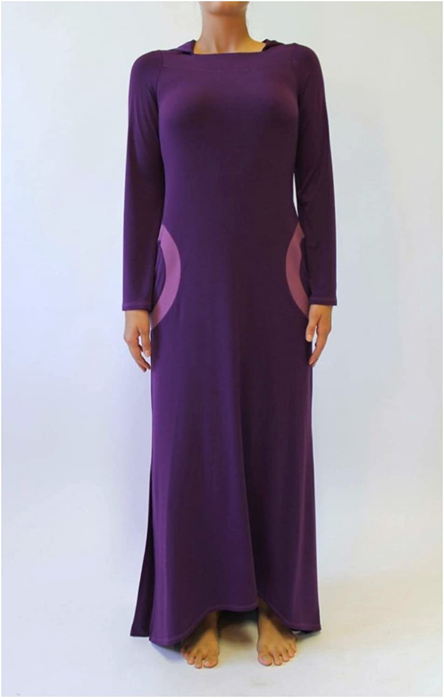 BRUNO IERULLO 100% Brazil Knit Women's Long Fashion Dress With A Hood