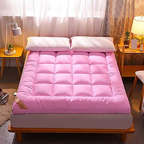 ZLJ Japanese Floor Mattress Breathable Sleeping Floor Mat Tatami Mat Shikibuton 100% Cotton Futon Mattress Pink 150x200cm(59x79inch)