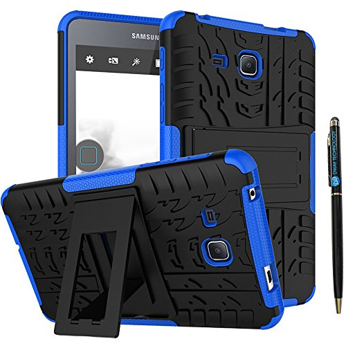 Tab A 7 Inch 2016 Release Tablet Case DWaybox 2in1 Combo Hybrid Armor Rugged Heavy Duty Hard Back Case Cover with Kickstand for Samsung Galaxy Tab A 7.0 2016 T280 T285 (Blue)