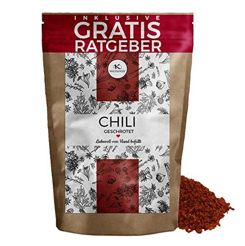 Chili Chilischoten geschrotet 250g | getrocknete Chillis mit Kernen grob gemahlen inkl gratis...