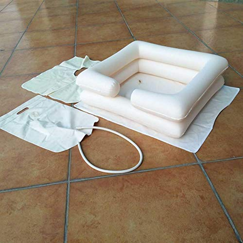 Shipenophy Tazón de champú portátil para Lavar el Cabello fácilmente Lavabo portátil para Lavar el Cabello para Ancianos