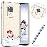 Robinsoni Cover Compatibile con Huawei Mate 20 Cover Silicone Natale Chiaro Nuovo Anno Cov...