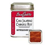 BenCondito - Rotes Scharfes Geräucherte Jalapeno Chilipulver (Chipotle) 80 gr Dose