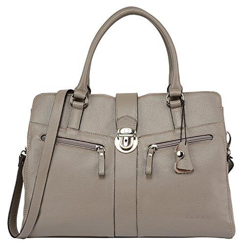 Banuce Women's Handbags Leather Business Work Briefcase Shoulder Messenger Bag for 9.7 Inch Ipad Work Tote Satchel Purse