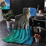 Couch Flannel Fleece Throw Blanket Sea Cave En La Isla De Zakynthos Grecia Vacaciones Relajante Paisaje Marino Imagen De La Costa Ponderado para Adultos Niños,127x102 CM