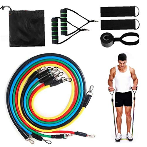 BYFRI ALI Standard-Widerstand-Bänder Set Expander Übung Fitness-Gummiband Stretch Training Home Workout 11Pcs