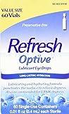 Allergan Optive Sensitive Preservative-Free Lubricant Eye Drops, 60 Count