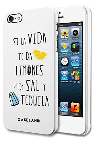 CASELAND CL1028102M Schutzhülle für Apple iPhone 5, Design Zitronen, Weiß
