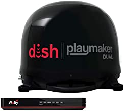 Winegard PL8035R Playmaker Black Satellite Antenna with Dish Wally HD Receiver