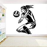 JXWH Volleyball Mädchen Spieler Wandaufkleber Sport