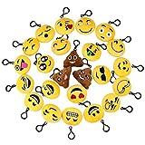 24Pack Mini Emoji Keychain en Peluche Belle Emoticon Porte-clés Emoji Toy Cadeau pour Les Enfants