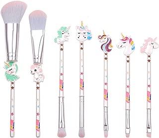 7Pcs Unicorn Makeup Brushes Set Eye Shadow Foundation Eyebrow Lip Brush Makeup Brushes Tool, Great Gift for Girls and Women (Unicorn)