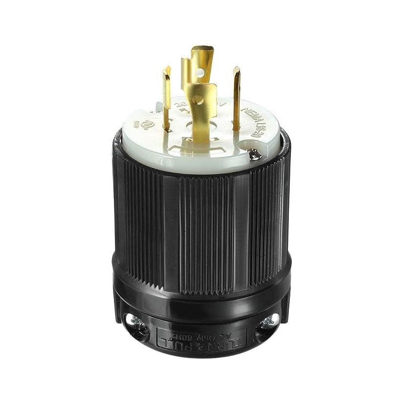 気を散らすタオル簡略化するuxcell ロックプラグ オスNEMA L16-20P 20A 480VAC 3極4線 接地工業用グレード