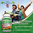 Amazing Liquid Filled Multivitamin Supplement Capsules for Men Women Seniors with 42 Fruits Vegetables Blend, 21 Essential Vitamins Minerals. Easy to Swallow. Made in USA #3
