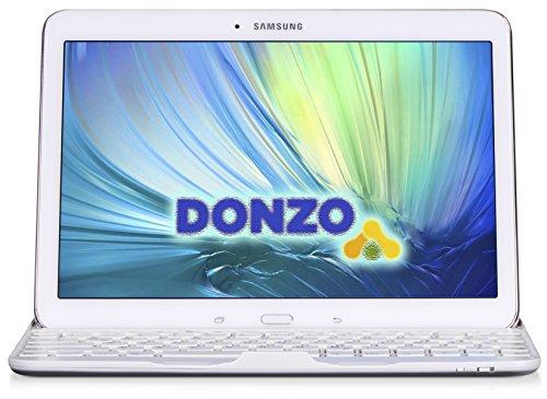 DONZO Case inkl. QWERTZ Bluetooth Tastatur für Samsung Galaxy Tab 4 T530 & T535 10.1 - Weiß