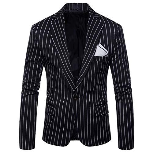KPILP Herren Anzugjacken Freizeit Kariert Sakko Business Blazer Slim fit Formale Mantel Hochzeitsanzug Herbst Winter Jacket Somkings Eine Knopf Elegant Party Outwear