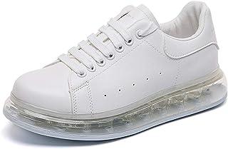 Zapatillas de running para hombre, cojín de aire unisex cuero caminando para correr zapatillas de deporte zapatillas trans...