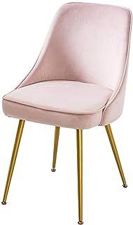 DSHUJC Sillas Piernas amortiguadores Suaves Glod Metal Silla Tabla de Vida sillas de Sala Sofá Vestir Sillas Cocina Dormitorio Comedor (Color: Amarillo)