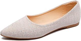 Alaso Ballerine Femme Mocassins Pas Cher Femme Cuir Chaussures Habillées Chaussures Plates Mariage/Soirée/Fête Strass Espa...