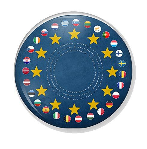 Gifts & Gadgets Co. ifts & Gadgets Co. EU Länder Sterne auf der EU Flagge Button Anstecknadel Anstecknadel 58mm groß