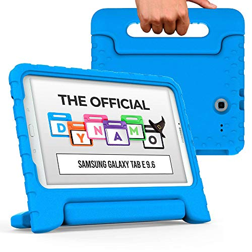 Cooper Dynamo [Rugged Kids Case] Protective Case for Samsung Tab E 9.6   Child Proof Cover, Stand, Handle   SM-T560 T561 T562 T563 T565 T567 (Blue)