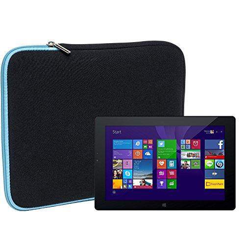 Slabo Tablet Tasche Schutzhülle für Odys WinPad V10 Hülle Etui Hülle Phablet aus Neopren – TÜRKIS/SCHWARZ
