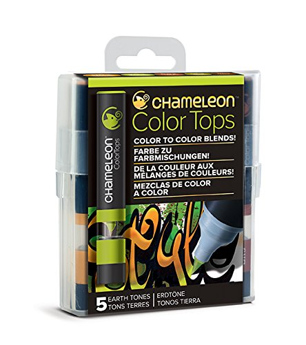 Chameleon Art Products - 5 Color Tops; Puntas de mezcla Chameleon; Tonos Tierra