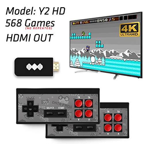 CZX Data Frog USB Wireless Handheld TV Video Game Console Build in Classic Game 8 Bit Mini Video Console Support AV/Y2 4K HDMI Output