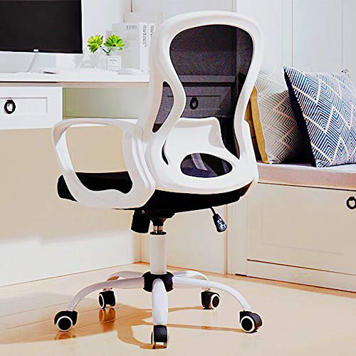 Office Chair, Ergonomic Mesh Desk Chair, Computer Mesh Chair with Lumbar Support Mid Back Office Task Desk Chair Swivel Adjustable Home Office Desk Chair Computer Chair (White)