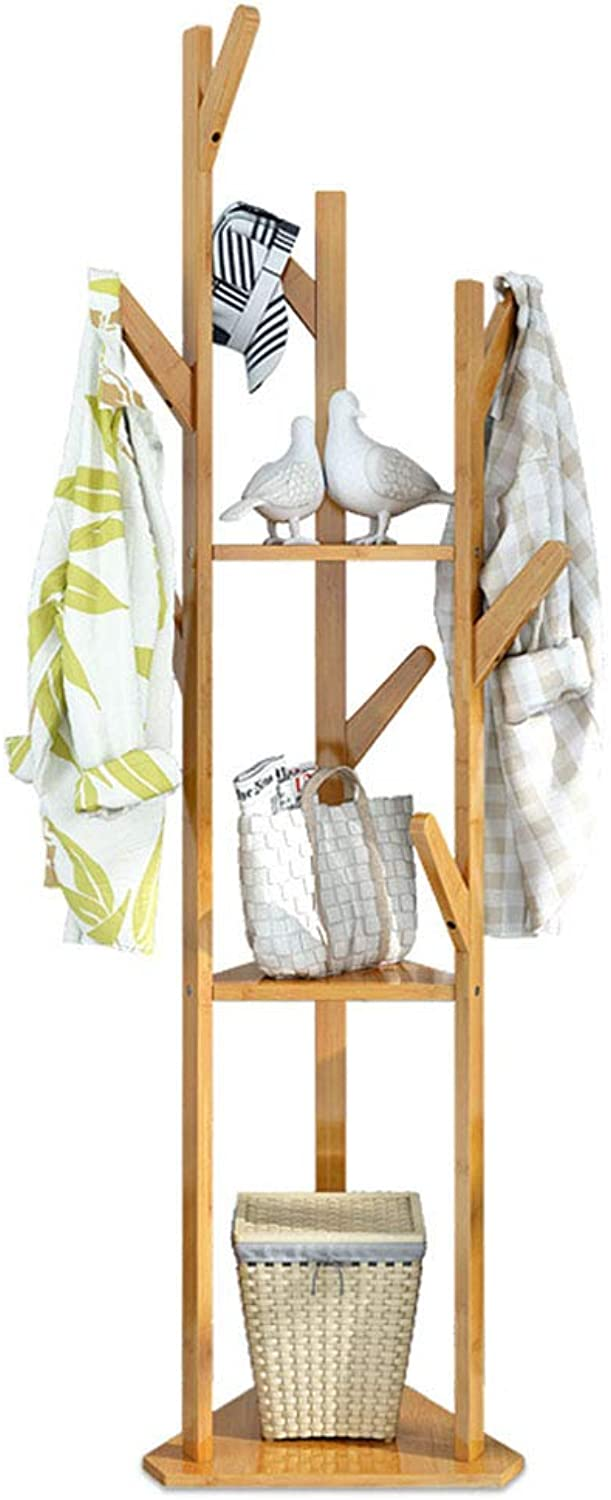Coat Rack Hangers Shelf Landing Bedroom Simple Economic Type Clothes Simple Creative Hanger Landing Solid Wood