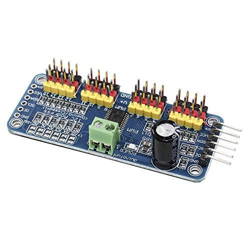 WayinTop PCA9685 PWM Servotreiber 16 Kanal 12 Bit Servo Motor Treiber I2C IIC Schnittstelle Modul für Arduino für Raspberry Pi