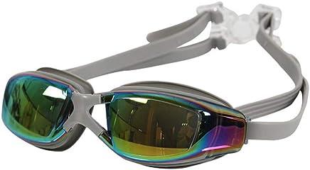 B LPcool Taucherbrille,Ohrstöpsel Anti-Level-Licht Anti-Fog Und Anti-Uv-Beschichtung Outdoor Silikon Brillen