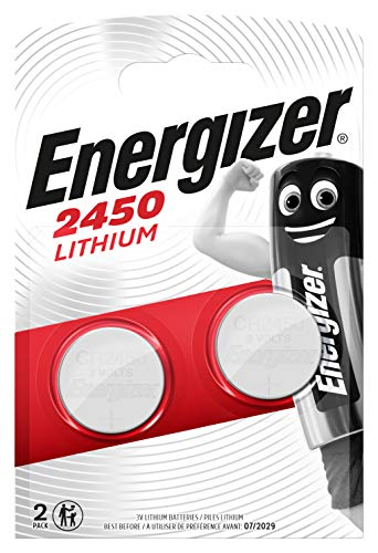 Energizer CR2450 Batterien, Lithium Knopfzelle, 2 Stück