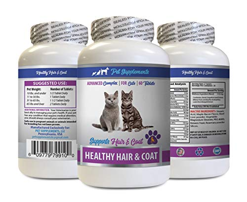 Senior cat Vitamins - Best Healthy Hair and Coat Supplement for Cats - Advanced Complex - Nail Health - Vitamins for Cats Kidney - 1 Bottle (60 Tablets)